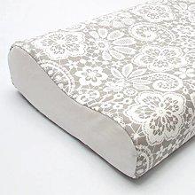 Úžitkový textil - Biela pavučinková čipka na sivej  - obliečka na anatomický vankúš (veľkosť M) - 12413968_