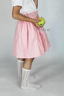 Detské oblečenie - Rose s korálkami - detská ľanová suknička - 12415187_
