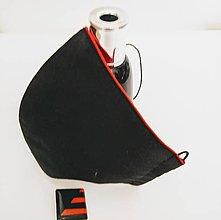 Rúška - Dámske rúško s červeným lemom - 12416907_