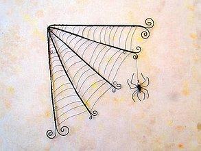 Dekorácie - pavučina * 21,5 cm - 12415403_