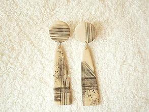 Náušnice - Náušnice z polyméru, abstraktná textúra - 12415579_