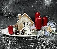 Dekorácie - Adventný svietnik - 12421323_