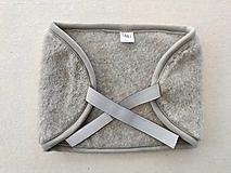 Úžitkový textil - Na seknutie v krížoch / Bolesť brucha/ bolesť obličiek  ĽADVINOVÝ pás 100% ovčie rúno MERINO TOP SUPER WASH GREY šedé - 12422499_