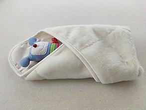 Textil - Vlnienka Klasická zavinovačka a Deka pre novorodenca zimná 100% MERINO TOP SUPER WASH NATURAL Off white - 12422519_