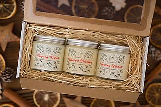 Svietidlá a sviečky - Darčeková sada sójových sviečok - Vianočné Kúzlo - 12419820_