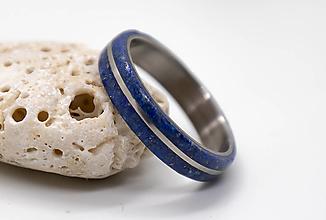 Prstene - Prsteň Titán s Lapis Lazuli - 12418455_