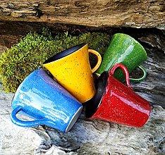 Nádoby - Keramické šálky na kávu - farebné - 12419519_
