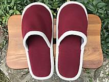 Obuv - Bordové papuče - 12418844_