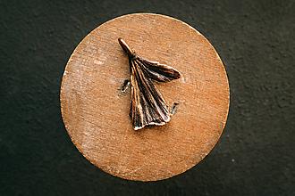 Náhrdelníky - Prívesok ginko mini patina - 12420492_