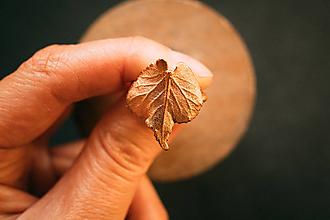Prstene - Prsteň lipa (2,2 x 2 cm - 53) - 12420794_
