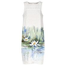 Šaty - Malované lněné šaty Na hladině - 12421482_