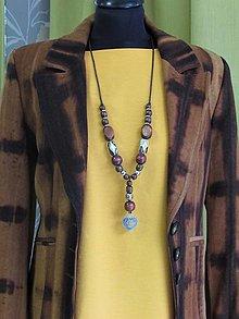 Náhrdelníky - Hnedý náhrdelník IV - 12420576_