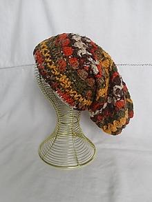 Čiapky - Háčkovaná čiapka v jesenných farbách - 12423505_