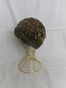 Čiapky - Háčkovaná čiapka - zemitá - 12423744_
