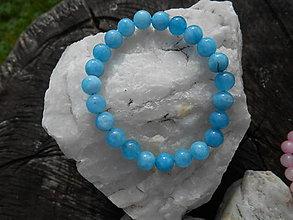 Náramky - colors minerals-náramky-AKCIA! (akvamarín-náramok) - 12427003_