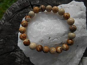 Náramky - colors minerals-náramky-AKCIA! (jaspis-krajinkový-náramok) - 12427007_