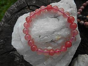 Náramky - colors minerals-náramky-AKCIA! (kremeň-jahodový-náramok) - 12427023_