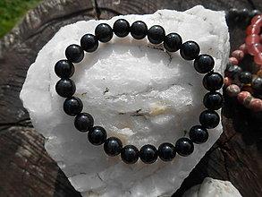 Náramky - colors minerals-náramky-AKCIA! (obsidian-náramok) - 12427032_