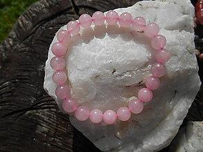 Náramky - colors minerals-náramky-AKCIA! (ruženín náramok) - 12427049_