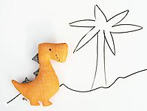 Hračky - Dino REX (oranžový) - 12423702_