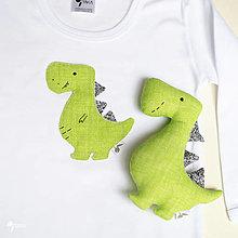 Detské súpravy - SET DINOSAURUS REX (zelený)  body + hračka - 12423509_