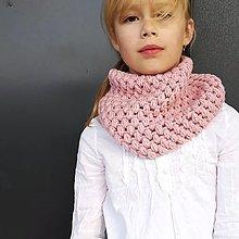 Detské doplnky - BUBLI nákrčník PASTEL ROSE - 12423450_