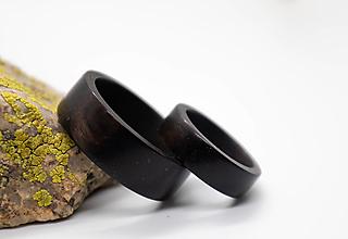 Prstene - Ebenové obrúčky - 12422691_