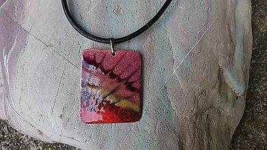 Sady šperkov - Červená pavučina - 12426261_