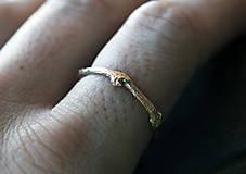 Prstene - Vetvičkový prsteň zlatý, žlté zlato 14 karátov - 12426694_