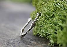 Prstene - Vetvičkový prsteň zlatý, žlté zlato 14 karátov - 12426695_