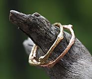 Vetvičkový prsteň zlatý, žlté zlato 14 karátov