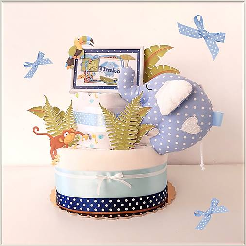 Plienková torta SAFARI modrá
