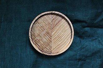 Nádoby - Masívna dubová podšálka - 12424272_