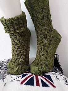 Obuv - Pánske pletené ponožky - 12423181_