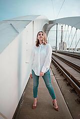 Košele - Dlhá biela košeľa - 12426070_