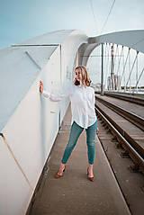 Košele - Dlhá biela košeľa - 12426071_