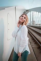 Košele - Dlhá biela košeľa - 12426072_