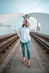 Košele - Dlhá biela košeľa - 12426075_