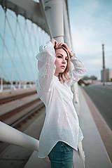 Košele - Dlhá biela košeľa - 12426076_
