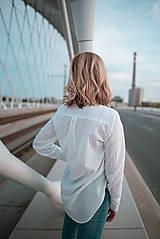Košele - Dlhá biela košeľa - 12426077_