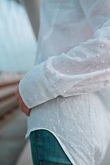 Košele - Dlhá biela košeľa - 12426079_