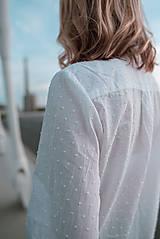 Košele - Dlhá biela košeľa - 12426081_