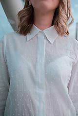 Košele - Dlhá biela košeľa - 12426082_