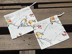 Úžitkový textil - sýkorky...vrecúška - 12422697_