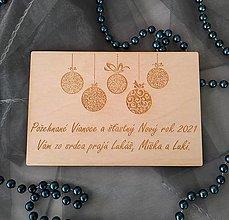 Papiernictvo - Pozdrav z dreva - vianočný - 12425319_