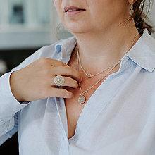 Náhrdelníky - LAYLA vrstvený náhrdelník, strieborný - 12425279_