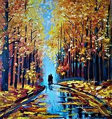 Obrazy - Jeseň - dvaja - 12430530_