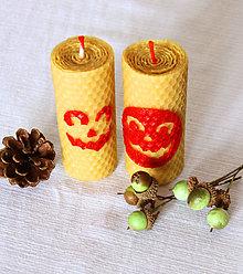 Svietidlá a sviečky - Dvojica sviečok - Halloween - 12429850_