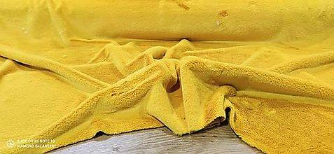 Textil - Kožušina poťahová - cena za 10 centimetrov  (Žltá) - 12431221_