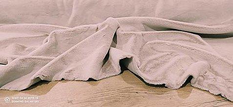 Textil - Kožušina poťahová - cena za 10 centimetrov  (Ružová) - 12431224_